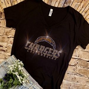 New Los Angeles Chargers VNeck T-shirt Fitted